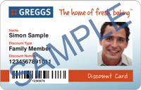Sample Greggs Discount Card sml